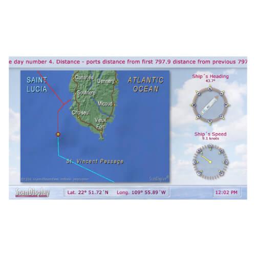 Passenger Information Map Display